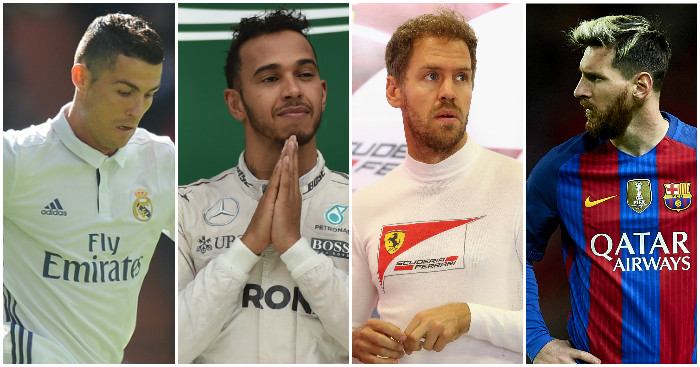 The top stars of football and F1