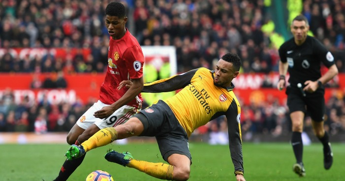 Francis Coquelin: Midfielder battles with Marcus Rashford