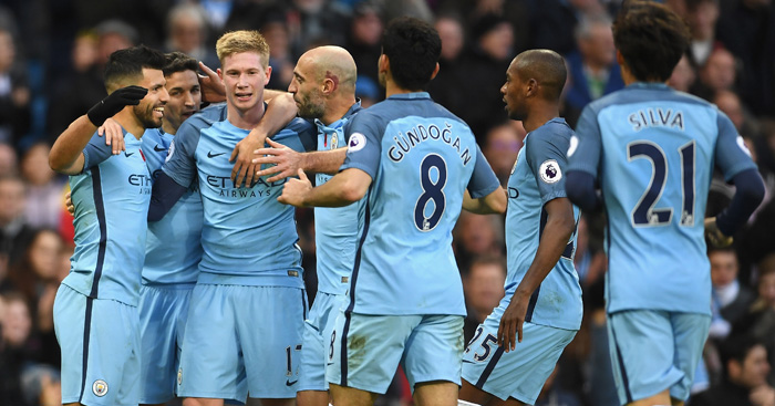 Sergio Aguero: Congratulated on Man City opener