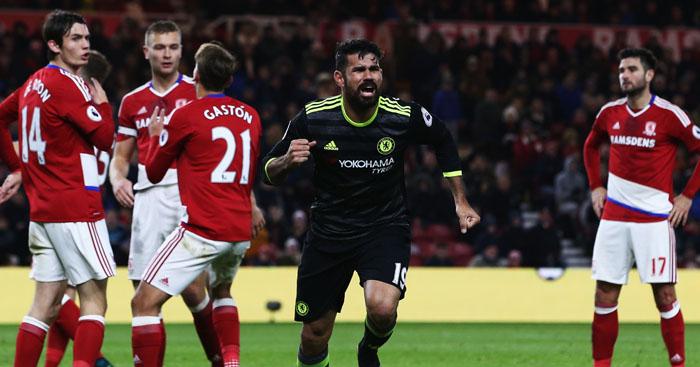 Diego Costa: Chelsea's matchwinner at Boro