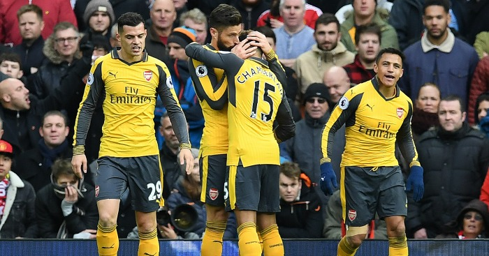 Olivier Giroud: Celebrates his late equaliser