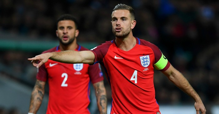 Jordan Henderson: Captained England in Slovenia