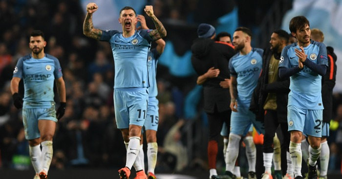 Man City: celebrate at full-time