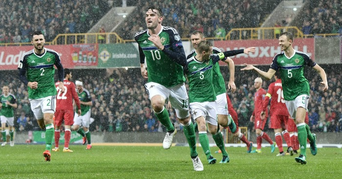 Kyle Lafferty: Scores opener for Green and White Army