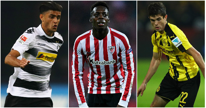 Dahoud, Williams, Pulisic: Linked with Liverpool moves