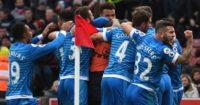 Nathan Ake: Mobbed by Bournemouth team-mates