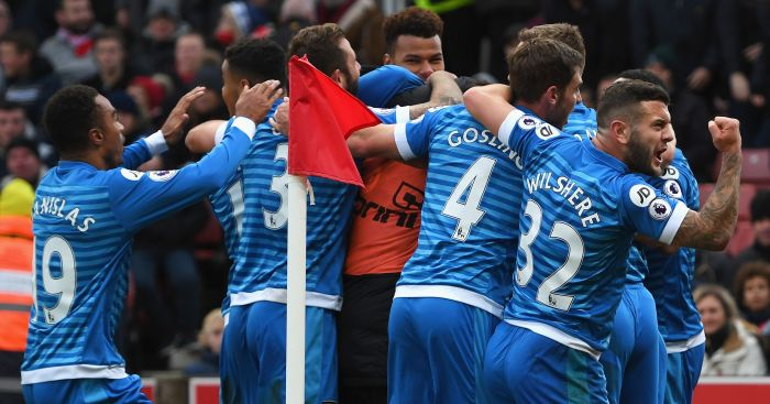 Nathan Ake: Mobbed by Bournemouth team-mates