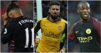 Firmino, Giroud & Toure: Mixed fortunes on Saturday