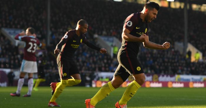 Sergio Aguero: Two goals