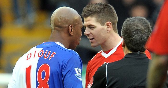 Steven Gerrard and El Hadji Diouf: Come to blows
