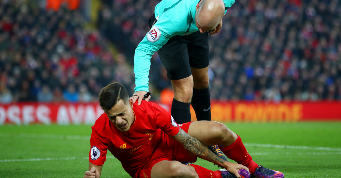 Philippe Coutinho: Could miss around six weeks