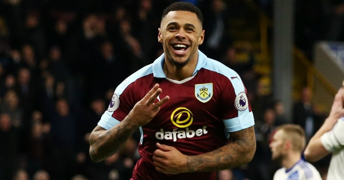 Andre Gray: Celebrates his hat-trick goal