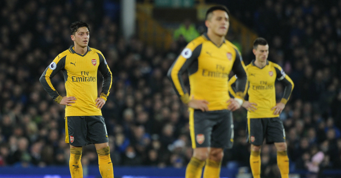 Arsenal: Suffer defeat at Goodison Park