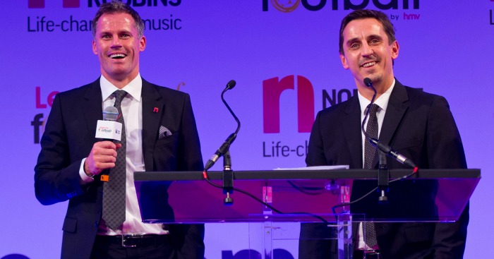 Jamie Carragher & Gary Neville: Picked their teams