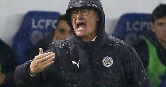 Claudio Ranieri: Braves the elements at Leicester