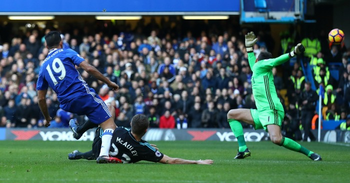 Diego Costa scores v West Brom