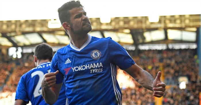 Diego Costa: Celebrates his goal