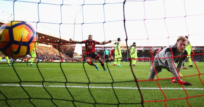 Loris Karius: Dropped a clanger for Bournemouth's fourth goal