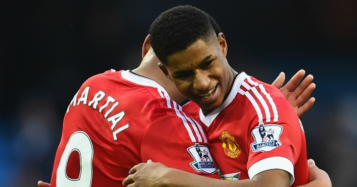 Marcus Rashford and Anthony Martial: Targeted by Hammers
