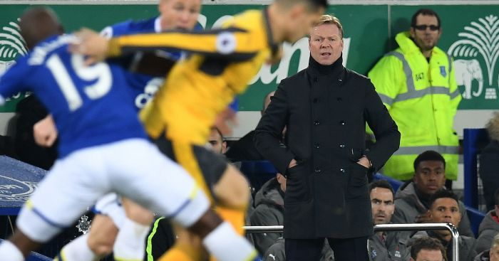 Ronald Koeman: Watches on from sidelines