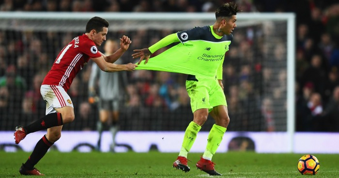 Ander Herrera: Shirt pull on Firmino angered Klopp