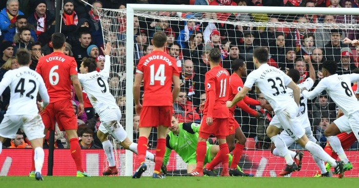 Swansea: Claimed shock 3-2 win at Liverpool