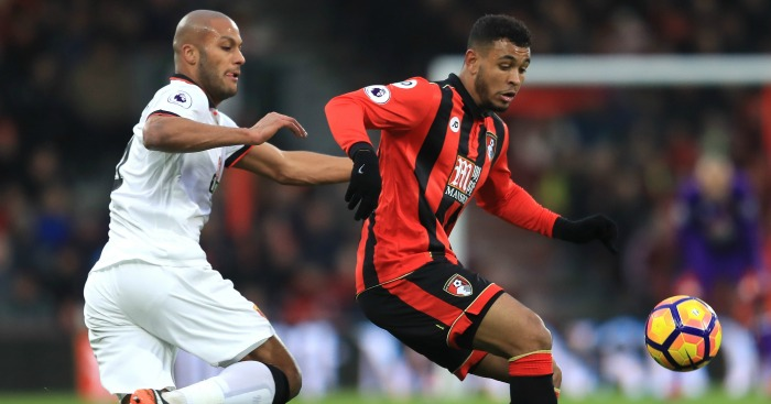 Younes Kaboul: Keeps a close watch on goalscorer Joshua King