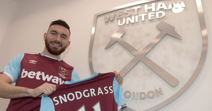 Robert Snodgrass: Joins West Ham for £10.2m