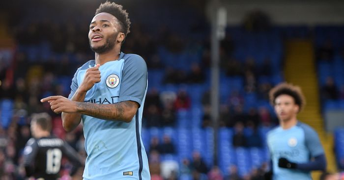 Raheem Sterling: Celebrates goal at Palace