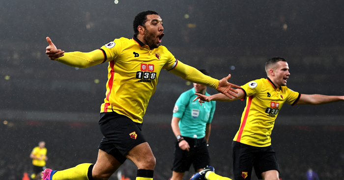 Troy Deeney: Matchwinner against Arsenal