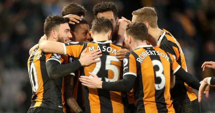 Abel Hernandez: Celebrates one of his goals for Hull