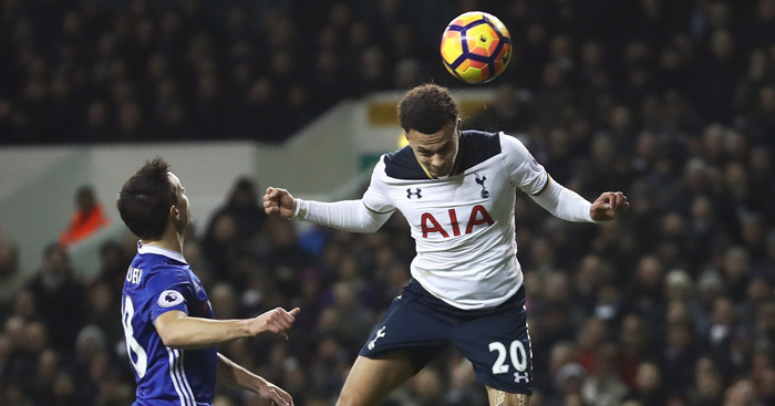 Dele Alli: Heads Tottenham into the lead against Chelsea