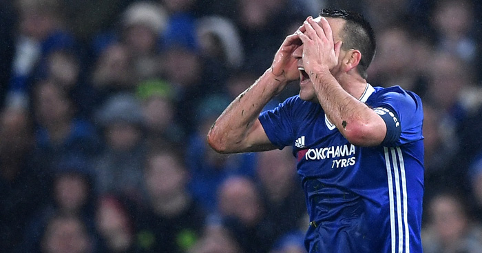 John Terry: Red carded in Chelsea win