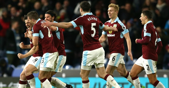 Joey Barton: Celebrates Burnley's winner