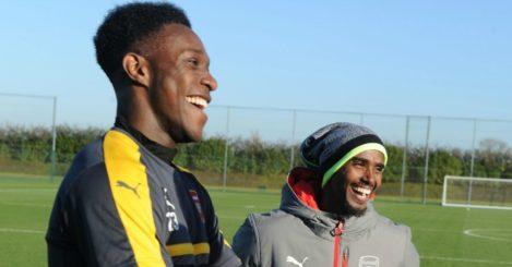 Mo Farah (r): Training with Danny Welbeck