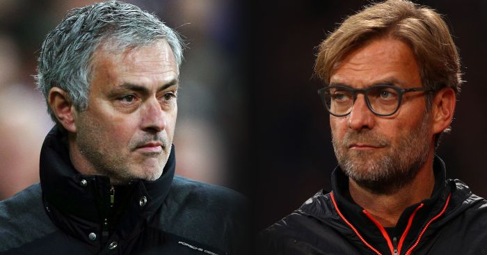 Mourinho and Klopp: Head-to-head on Sunday