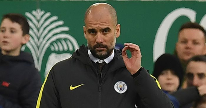 Pep Guardiola: Looks glum on sidelines
