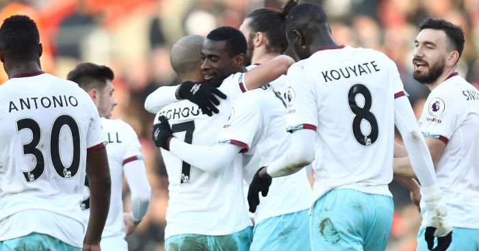 Pedro Obiang: On target for Hammers