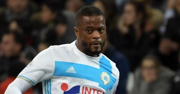 Evra looking to dish out some karate to West Ham fans.
