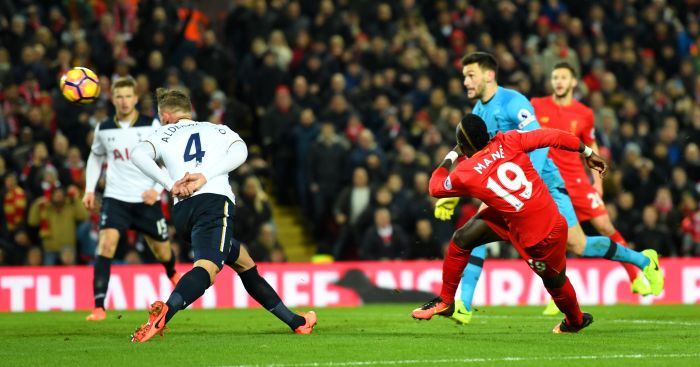Sadio Mane: Smashes home for Liverpool