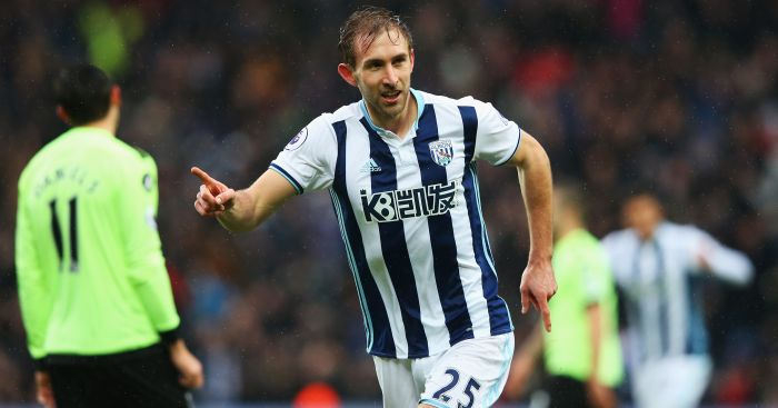 Craig Dawson: Celebrates netting for Baggies