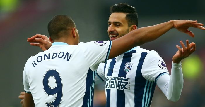 Salomon Rondon: Leads the line at The Hawthorns