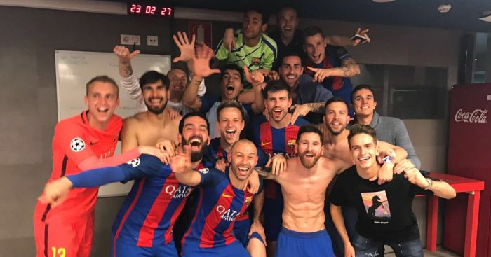 Barcelona: Celebrate in the changing rooms after miracle win