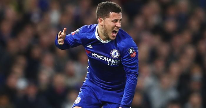 Eden Hazard: Endured some rough stuff against Man United