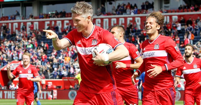 Bastian Schweinsteiger: On target on his MLS debut