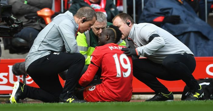 Sadio Mane: Came off injured in the derby win