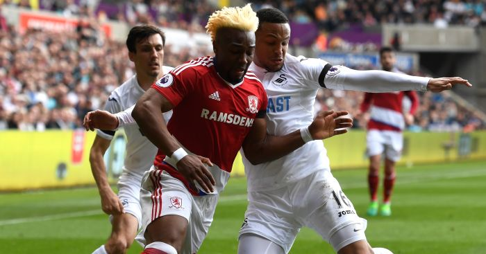 Adama Traore: Challenged by Martin Olsson at The Liberty