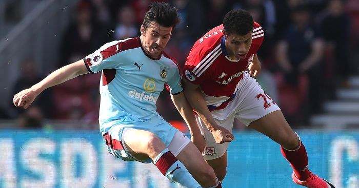 Joey Barton: In action for Burnley at Middlesbrough