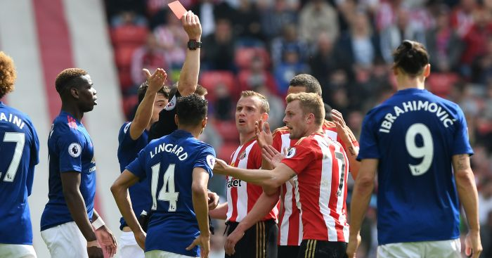 Seb Larsson: Saw red against Manchester United