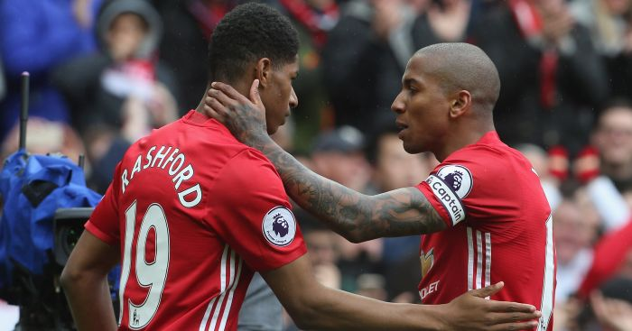 Ashley Young: Captained United to win over Chelsea